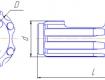 Штыревая коронка КНШ-105ШВ. Увеличить