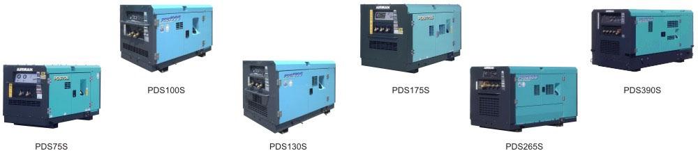 Стационарные компрессора AIRMAN серии PDS. Увеличить.